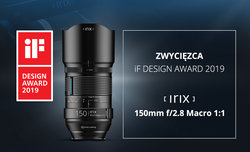 Irix 150 mm f/2.8 Macro 1:1 z nagrodą iF DESIGN 2019