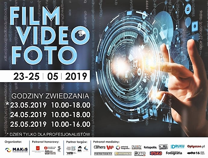 Film Video Foto 2019 - w maju targi w Łodzi